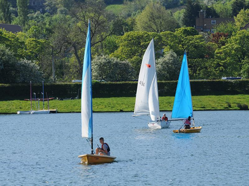 Sailing at Otley Show